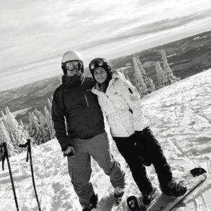 Stefania snowboarding